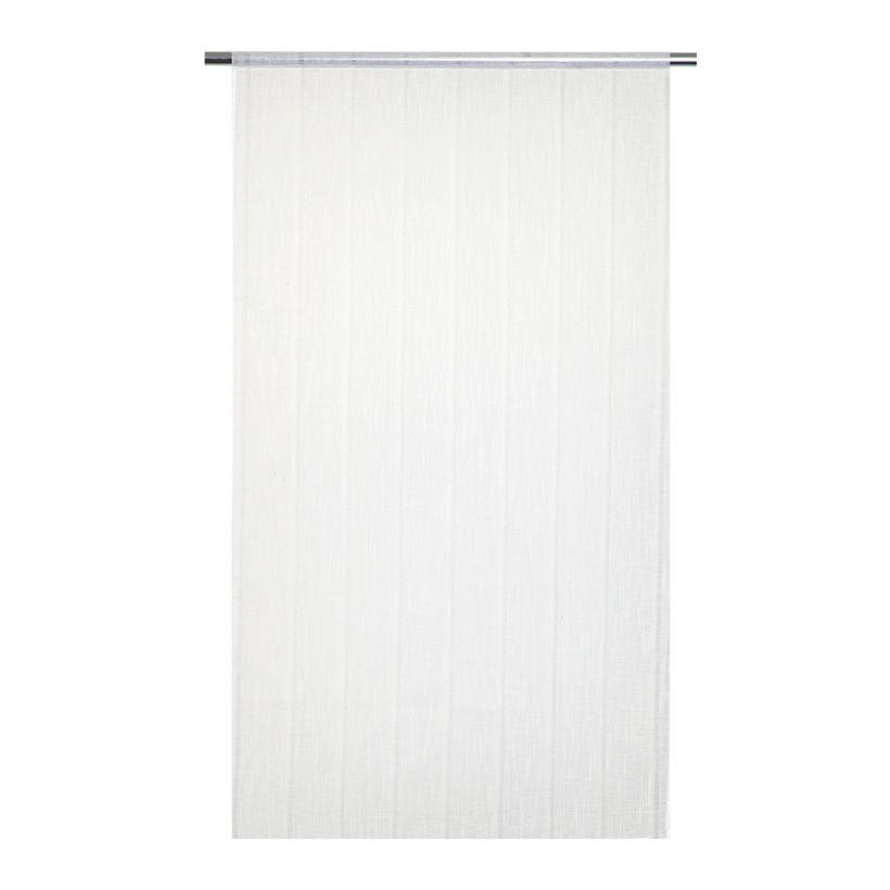 Vitrage droit effet lin blanc Jalapa 90x160 cm