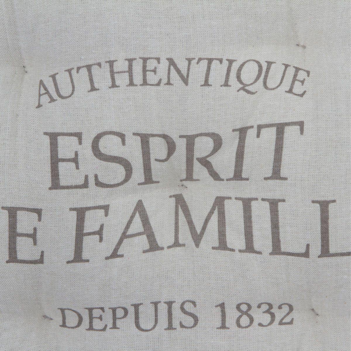 Coussin de sol famille lin 40x40cm