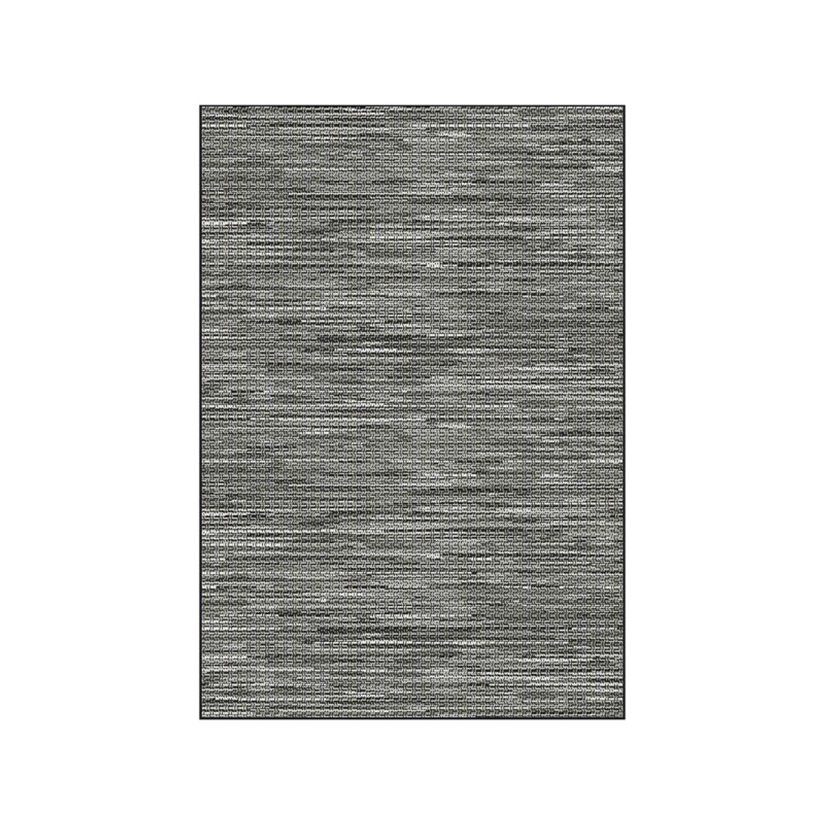 Tapis tissé plat gris Mont Blanc 160x230 cm