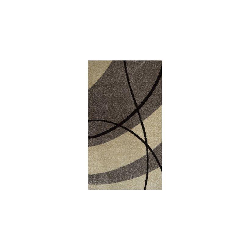 Tapis moderne vague grise Maoke 160x230 cm