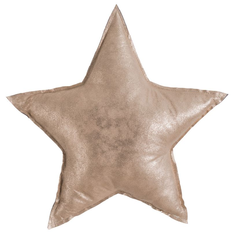 Coussin enfant doré Etoile 46x46 cm