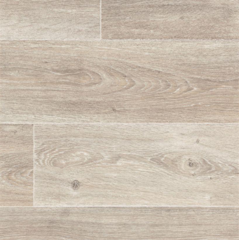 Sol vinyle bois taupe blanc Gubbio 400cm