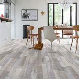 Sol vinyle bois scié gris taupe Lecco 400cm