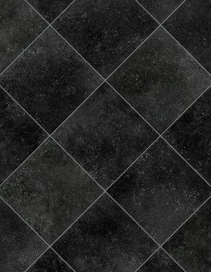 Sol vinyle carreaux noir effet métal Baciano 400cm | KALICO