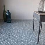 Sol vinyle carreaux ciment gris blanc Baciano 400cm