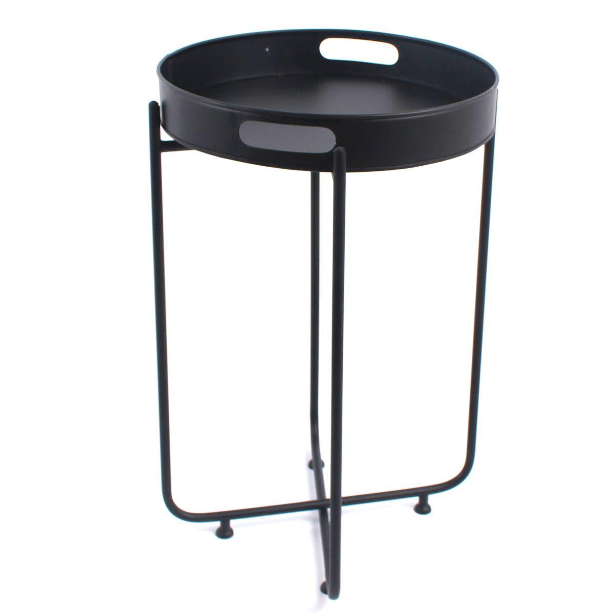 Table noire avec plateau