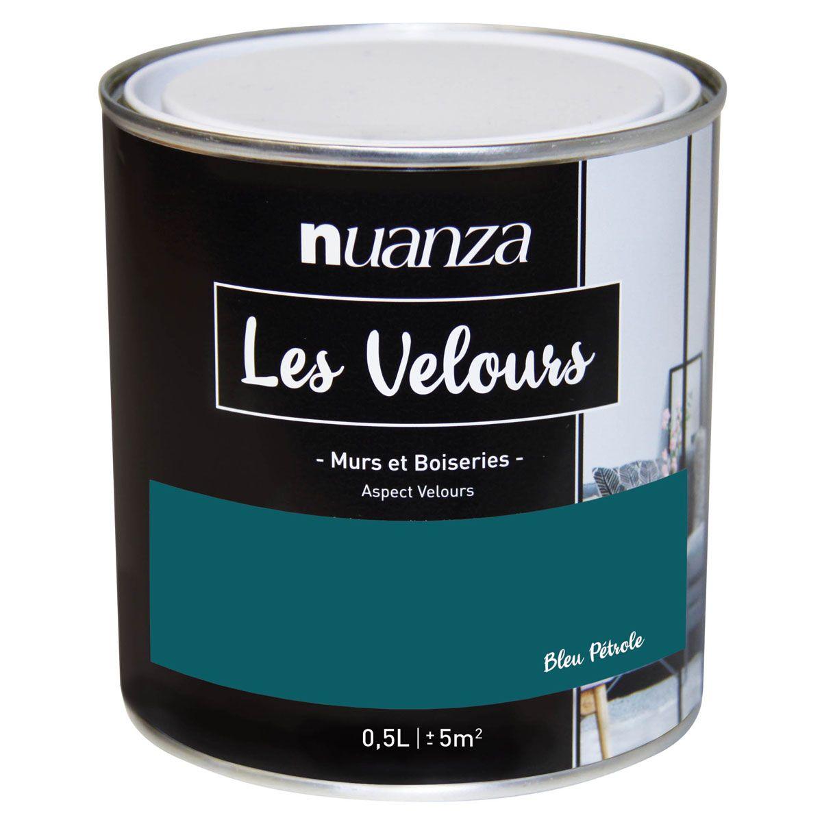 Peinture velours monocouche Bleu Pétrol 0.5l