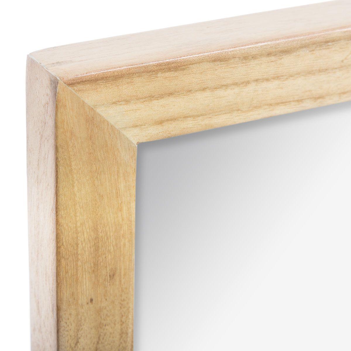 Miroir atelier bois naturel