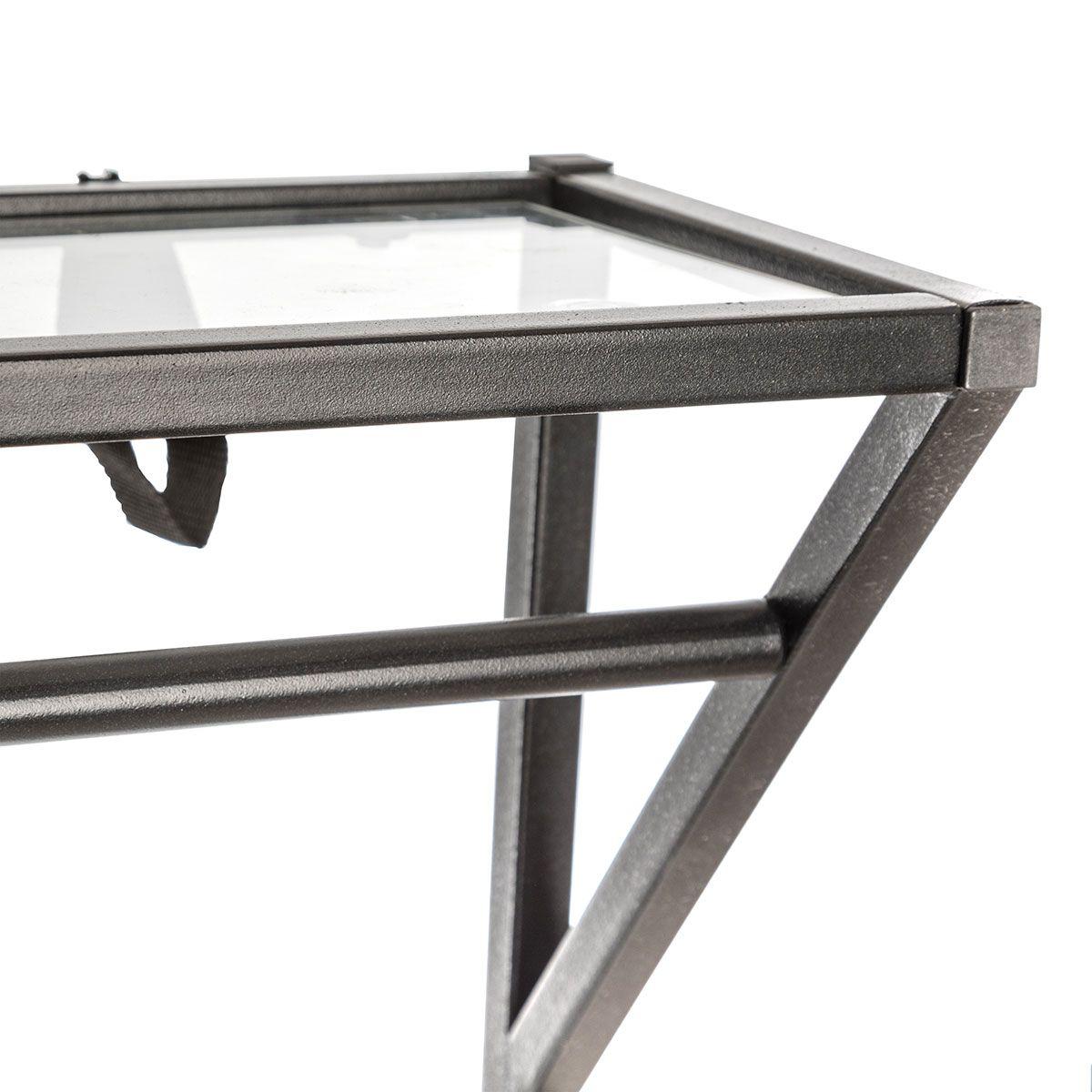 Meuble d'entrée métal noir bois