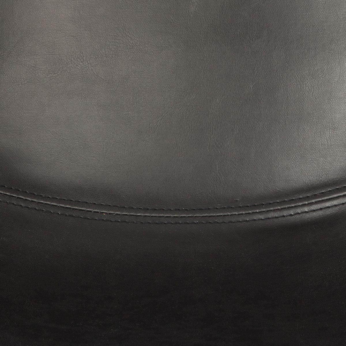 Chaise de bar confortable surpiqué noir