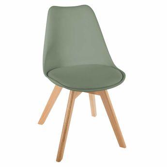 Chaise scandinave verte Baya